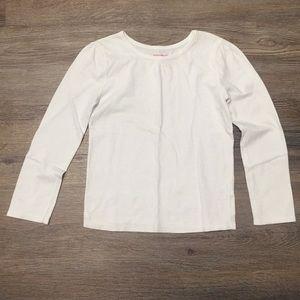 Girls Gathered Neck Long Sleeve Shirt Size 5T